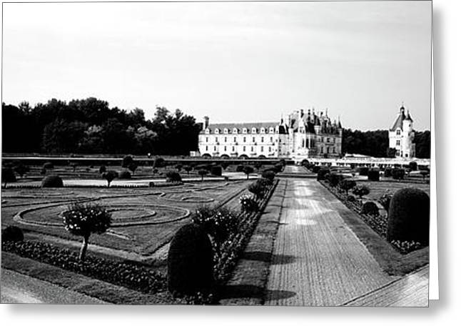Formal Garden In Front Of A Castle Greeting Card
