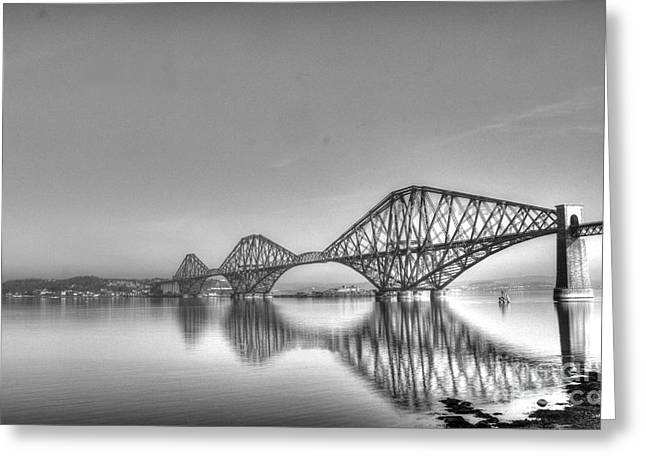 Forth Rail Bridge  Greeting Card by David Grant