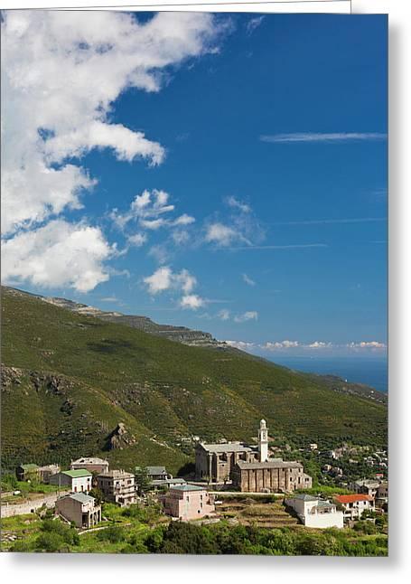 France, Corsica, Le Cap Corse, Bastia Greeting Card by Walter Bibikow