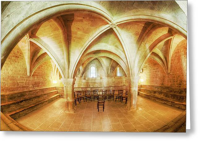 France, Provence, Seananque Abbey Greeting Card