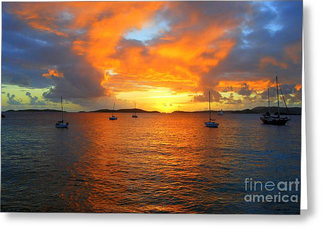 Frank Bay St. John U. S. Virgin Islands Sunset Greeting Card