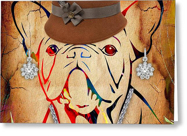French Bulldog Collection Greeting Card by Marvin Blaine