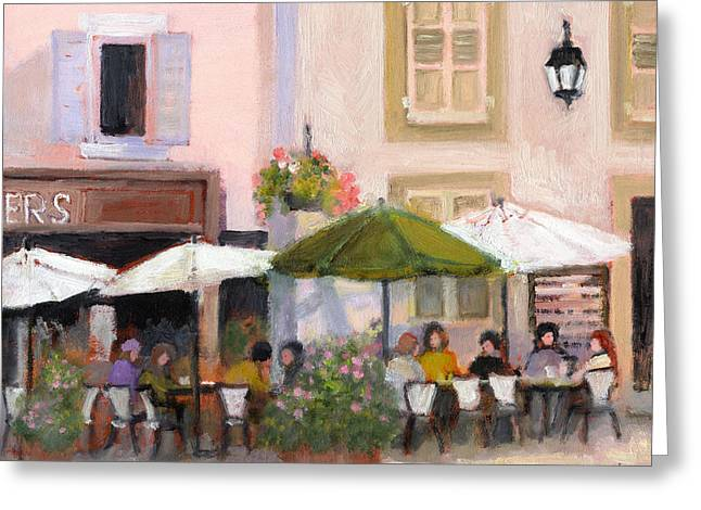 French Country Cafe Il Greeting Card by J Reifsnyder
