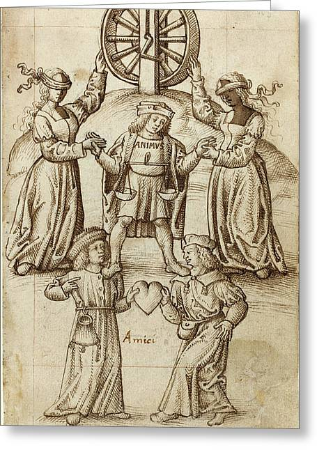 French Early 16th Century Greeting Card