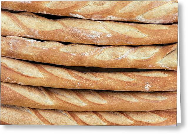Freshly Baked Baguettes For Sale Greeting Card by Panoramic Images