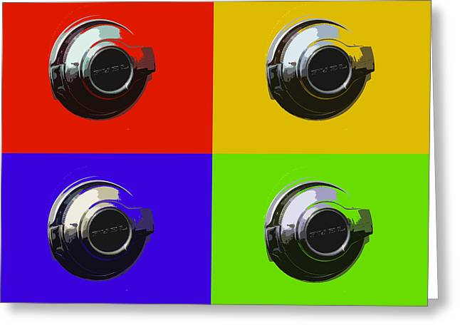 Fuel Cap In Bold Color Greeting Card