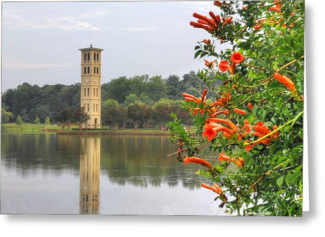 Furman University Bell Tower  Greenville Sc Greeting Card by Willie Harper