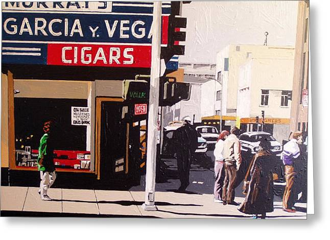 Garcia Y Vega Greeting Card by Paul Guyer