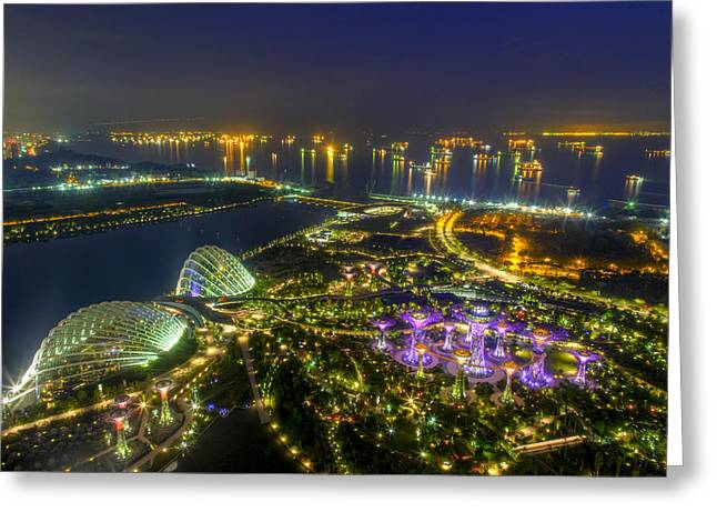 Gardens By The Bay Greeting Card by Mario Legaspi