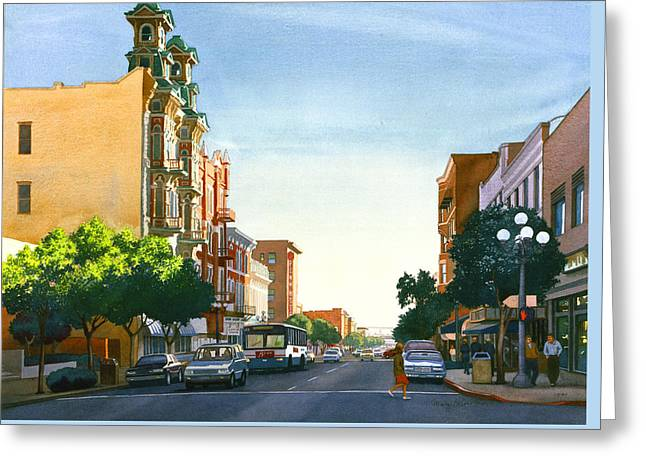 Gaslamp Quarter San Diego Greeting Card