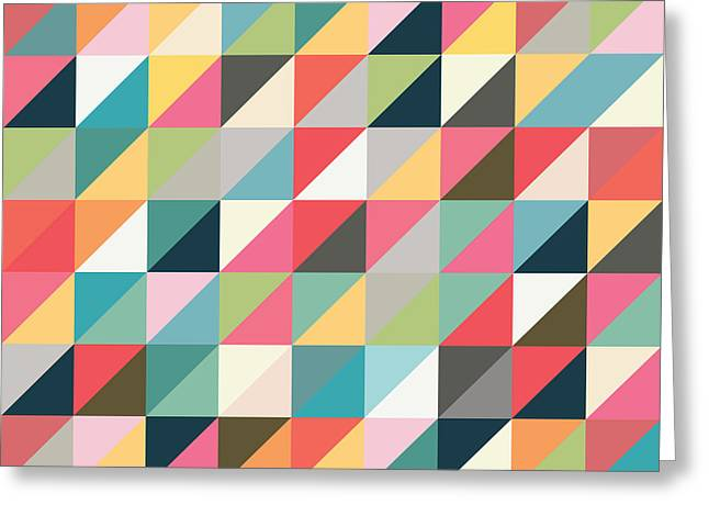 Geometric Art Greeting Card