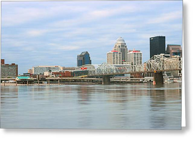 George Rogers Clark Memorial Bridge Greeting Card by Panoramic Images
