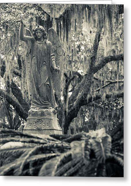Georgia, Savannah, Bonaventure Cemetery Greeting Card by Walter Bibikow