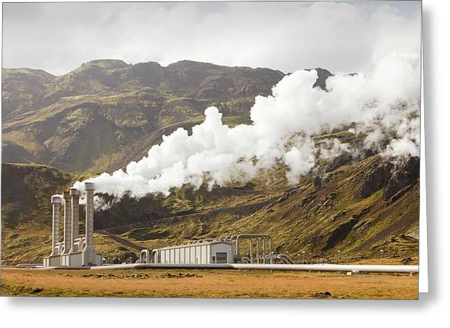 Geothermal Power Station Greeting Card by Ashley Cooper