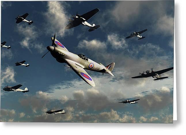 German Heinkel He 111 Bombers Greeting Card