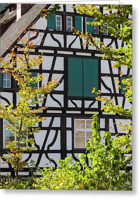 Germany, Baden-wurttemberg, Black Greeting Card