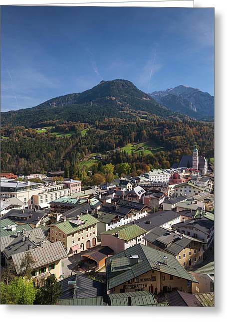 Germany, Bavaria, Berchtesgaden Greeting Card by Walter Bibikow