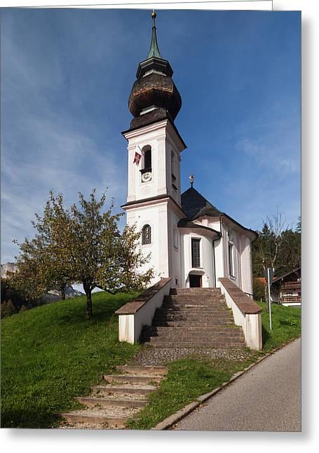 Germany, Bavaria, Maria Gern Village Greeting Card