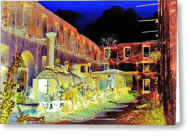 Ghost Train Greeting Card by Chuck Staley