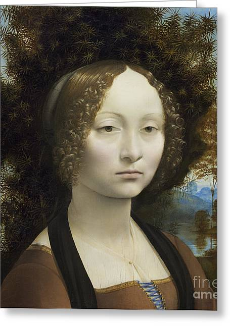 Ginevra De Benci Greeting Card by Leonardo Da Vinci