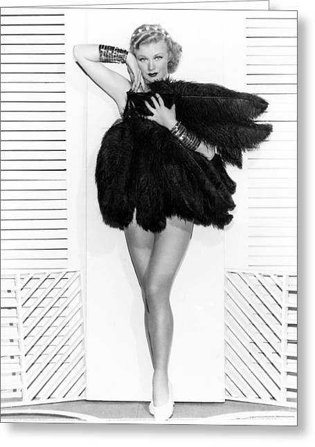 Ginger Rogers Greeting Card