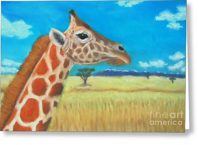 Giraffe Dreaming Greeting Card