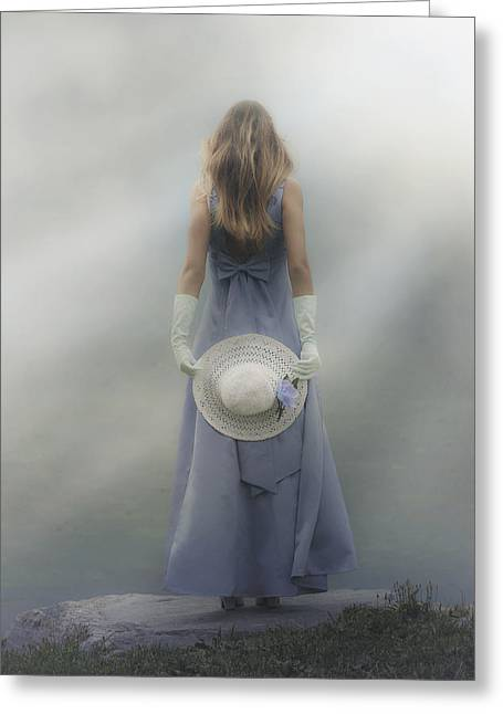 Girl With Sun Hat Greeting Card