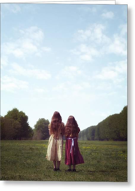 Girlfriends Greeting Card by Joana Kruse