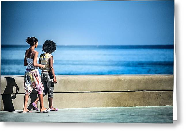 2 Girls On The Malecon Greeting Card