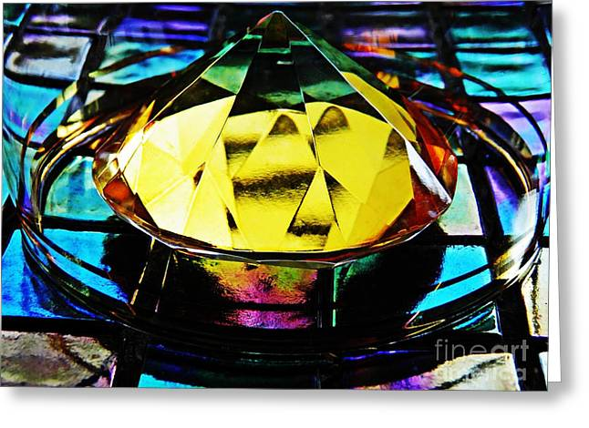 Glass Abstract 678 Greeting Card by Sarah Loft
