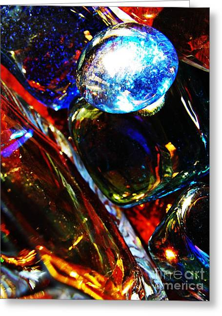 Glass Abstract 683 Greeting Card by Sarah Loft