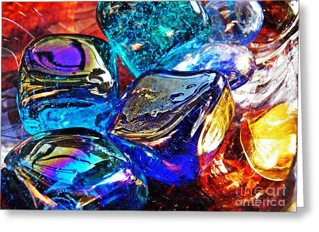 Glass Abstract 686 Greeting Card by Sarah Loft