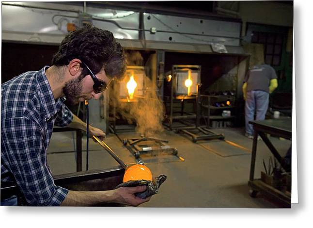 Glass Blowing Greeting Card