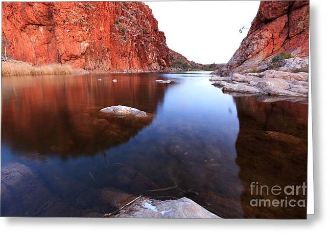 Glen Helen Gorge Greeting Card by Bill  Robinson