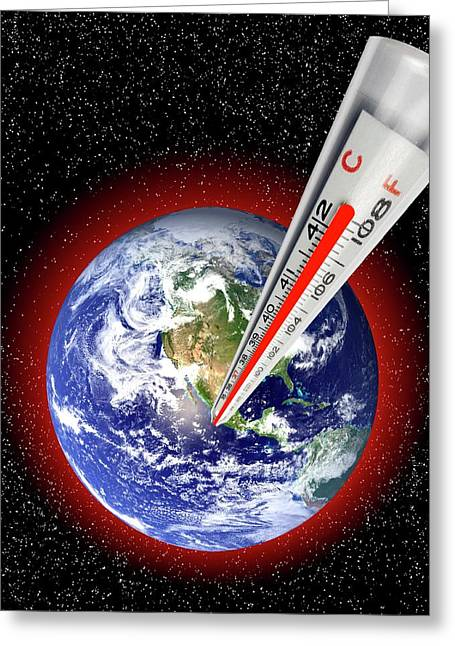 Global Warming Concept Greeting Card