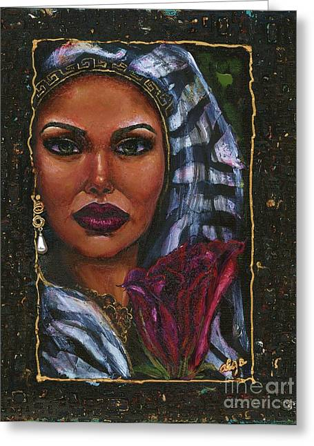 Greeting Card featuring the painting Glorious by Alga Washington