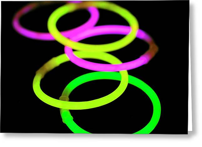 Glow Bracelets Greeting Card