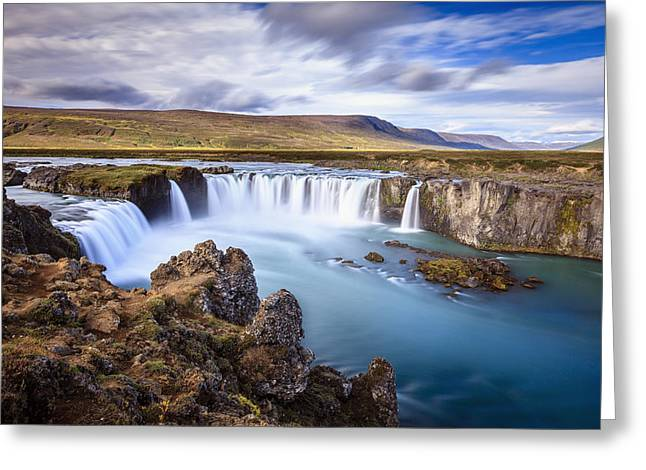 Godafoss Waterfall Greeting Card