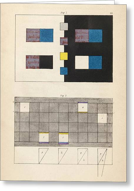 Goethe's Theory Of Colours Greeting Card by King's College London