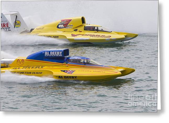 Greeting Card featuring the photograph Gold Cup Hydroplane Races by Jim West