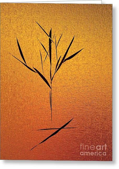 Gold Greeting Card by John Krakora