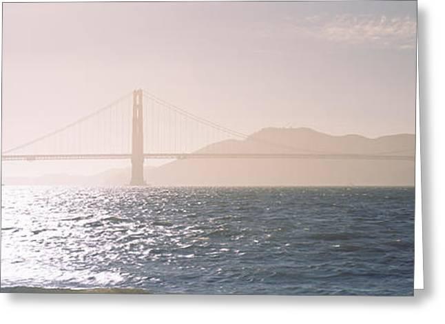 Golden Gate Bridge California Usa Greeting Card by Panoramic Images