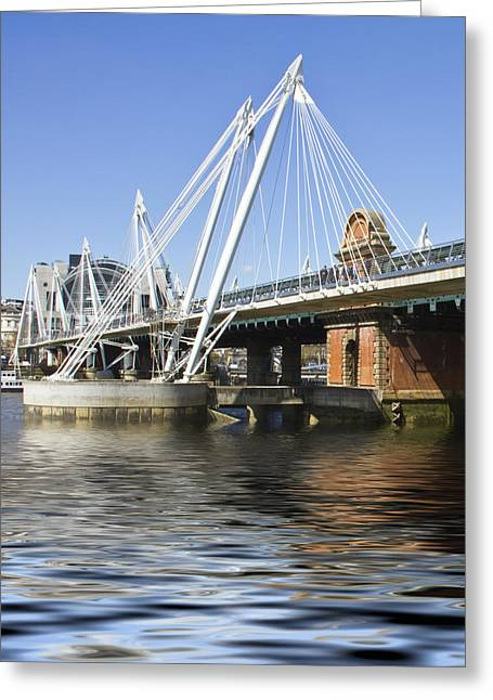 Golden Jubilee Bridges London Greeting Card