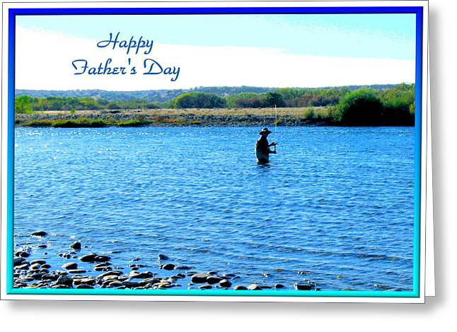 Gone Fishing Greeting Card by Joyce Dickens