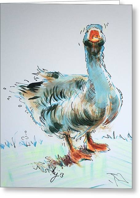 Goose Drawing Greeting Card