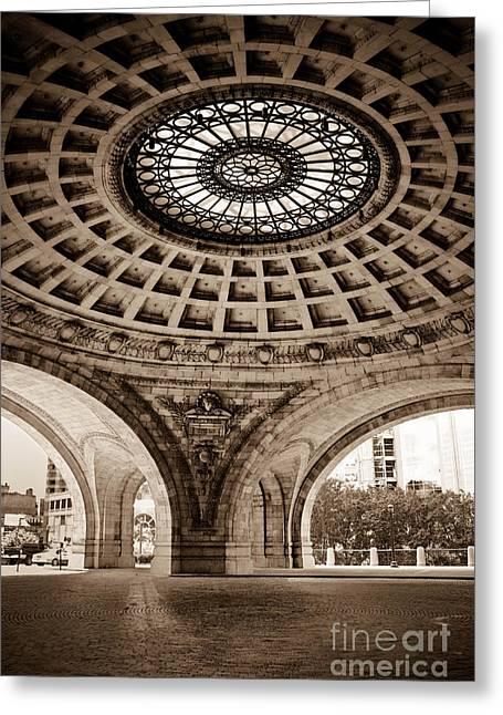 Grand Rotunda Pennsylvanian Pittsburgh Greeting Card by Amy Cicconi