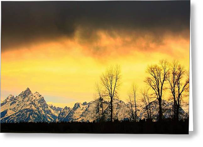 Greeting Card featuring the photograph Grand Tetons Wyoming by Amanda Stadther