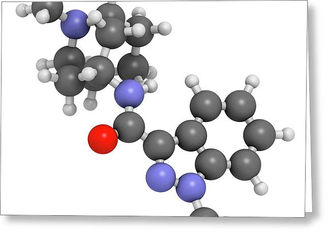 Granisetron Nausea Drug Molecule Greeting Card by Molekuul