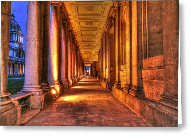 Greenwich Royal Naval College Hdr  Greeting Card by David French