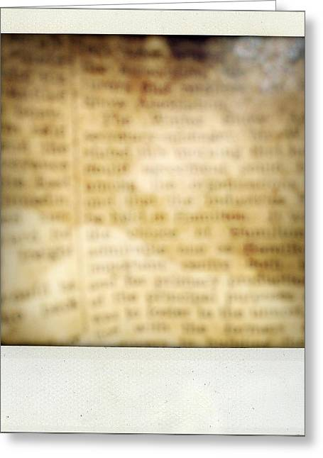 Grunge Newspaper Greeting Card by Les Cunliffe